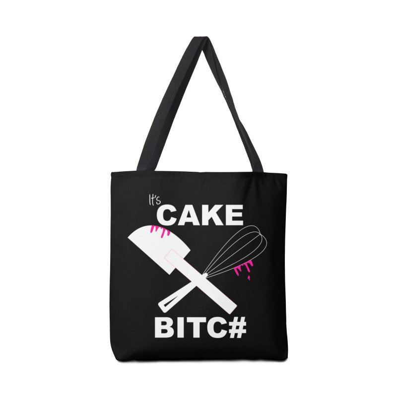 It's CAKE BITC# (Wht w/ pink) Accessories Bag by More Cake?