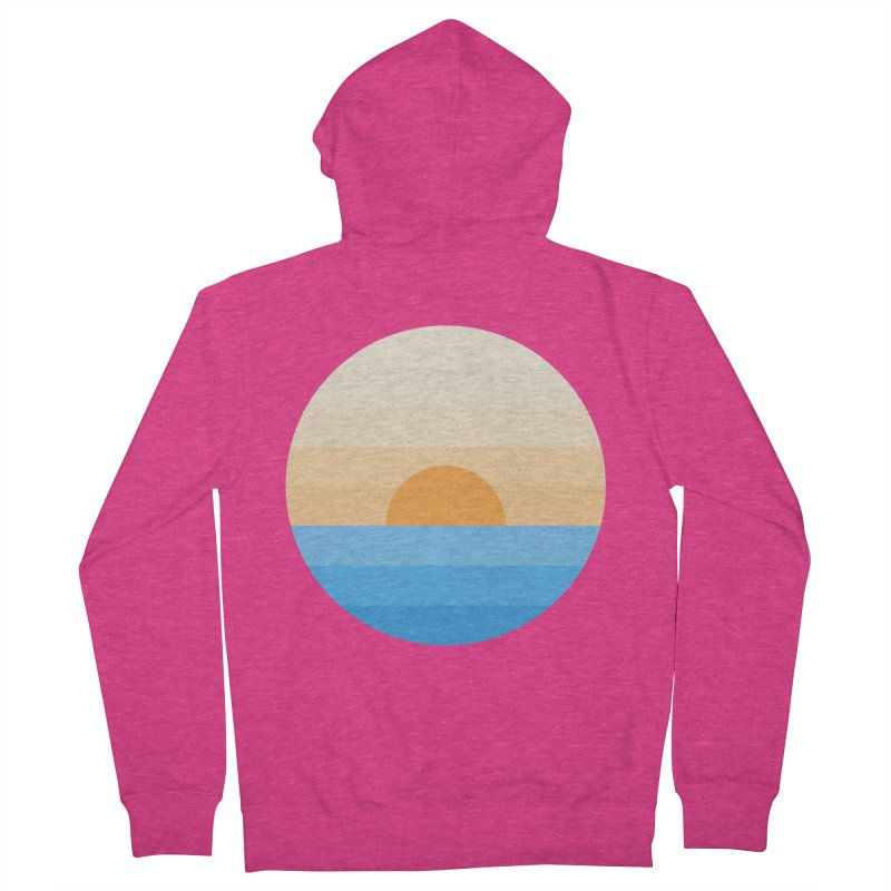 Sun goes down Women's French Terry Zip-Up Hoody by Moremo's Artist Shop