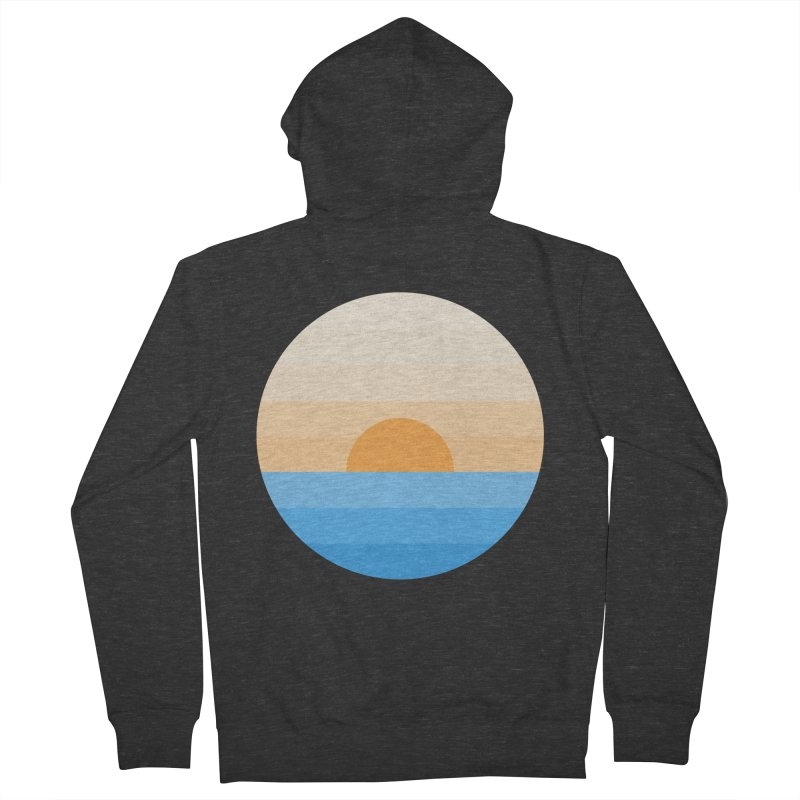 Sun goes down Men's French Terry Zip-Up Hoody by Moremo's Artist Shop
