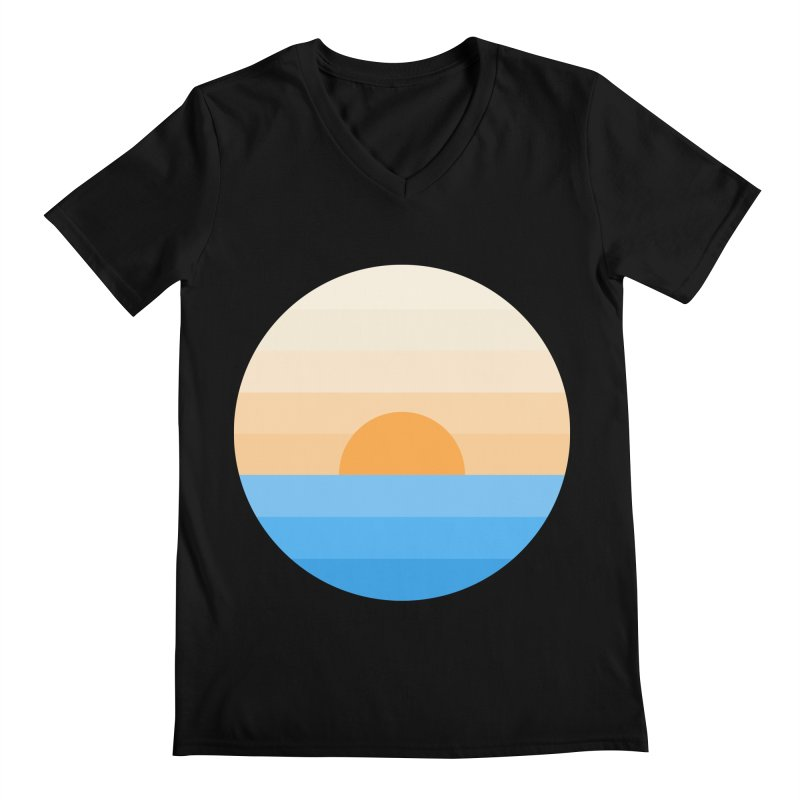 Sun goes down Men's Regular V-Neck by Moremo's Artist Shop