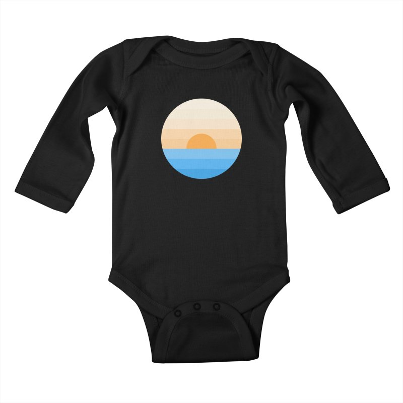 Sun goes down Kids  by Moremo's Artist Shop