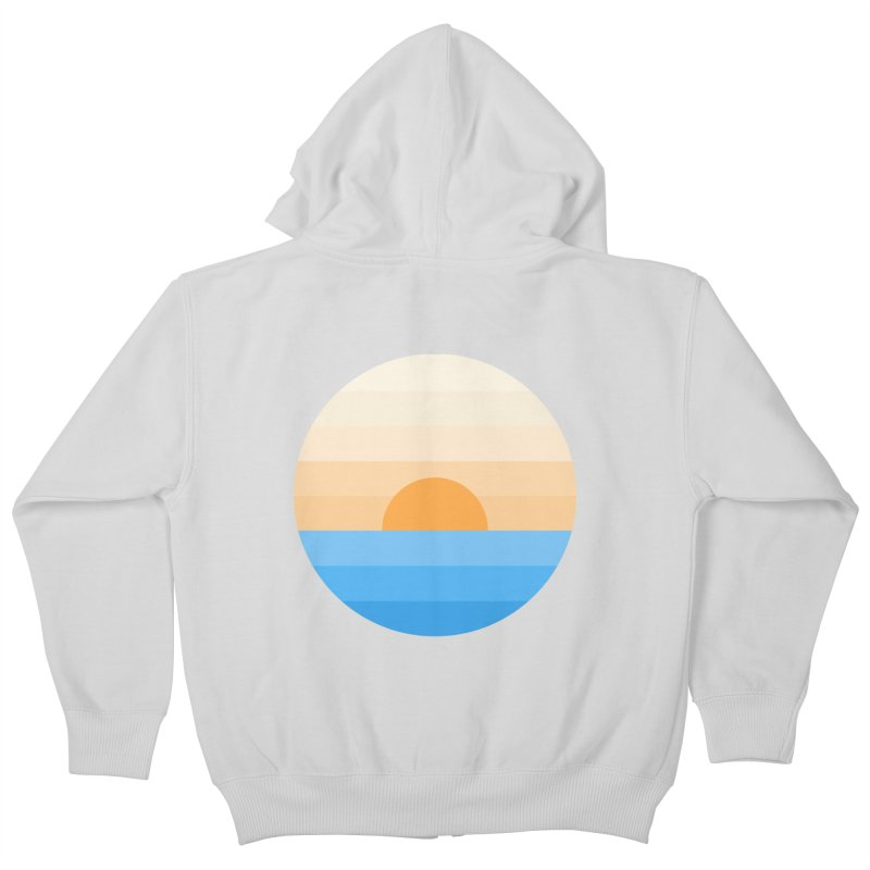 Sun goes down Kids Zip-Up Hoody by Moremo's Artist Shop