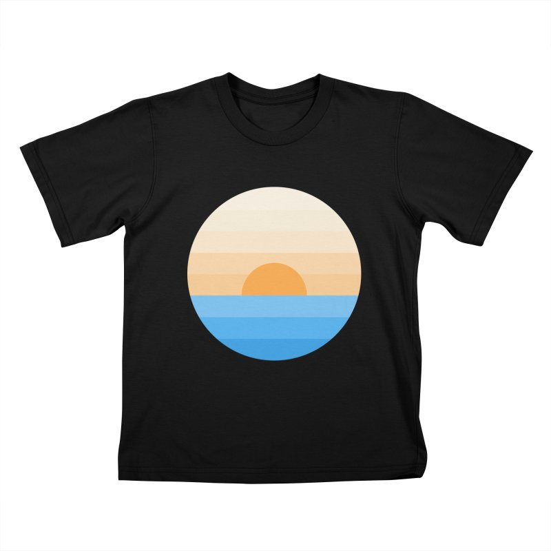 Sun goes down Kids T-Shirt by Moremo's Artist Shop