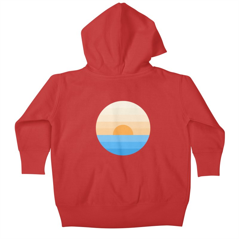 Sun goes down Kids Baby Zip-Up Hoody by Moremo's Artist Shop