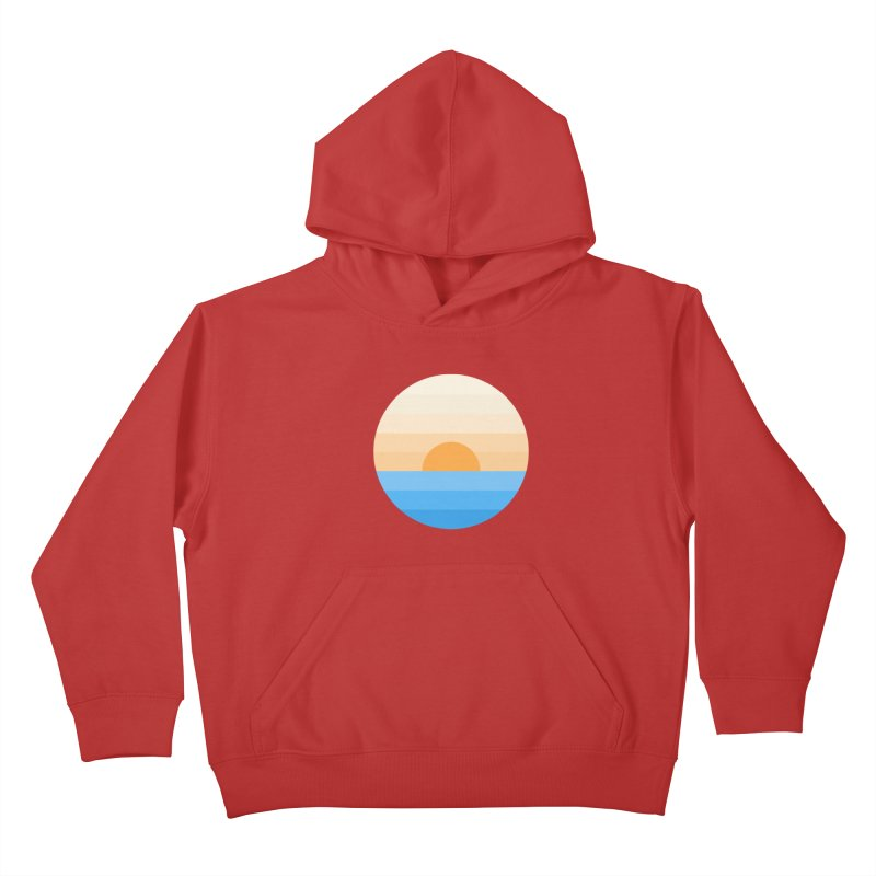 Sun goes down Kids Pullover Hoody by Moremo's Artist Shop