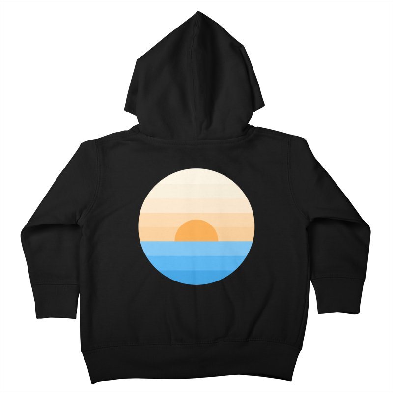 Sun goes down Kids Toddler Zip-Up Hoody by Moremo's Artist Shop
