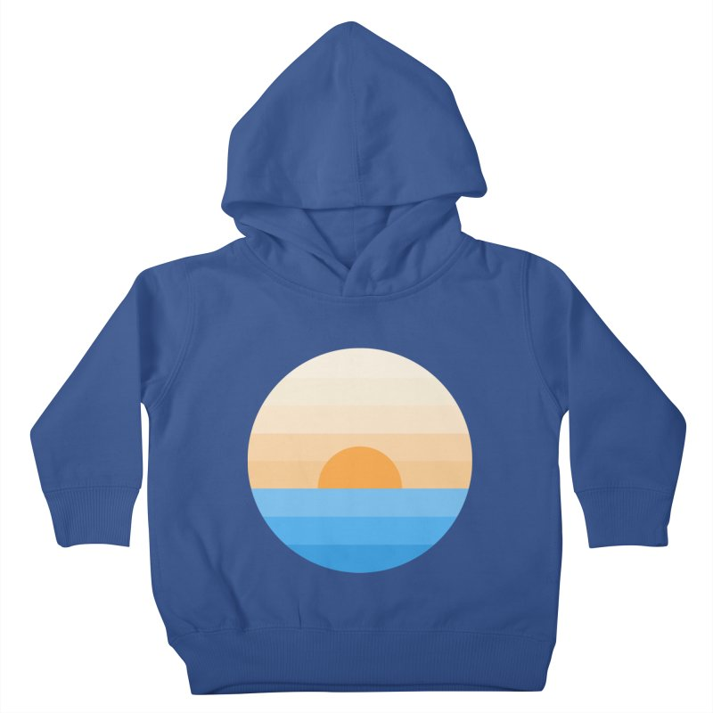 Sun goes down Kids Toddler Pullover Hoody by Moremo's Artist Shop