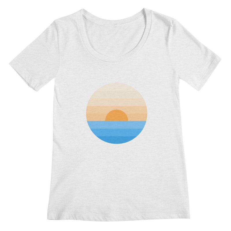 Sun goes down Women's Scoopneck by Moremo's Artist Shop