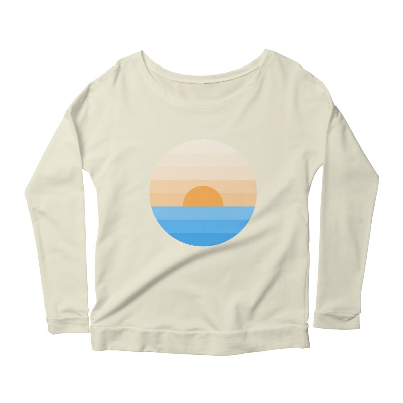 Sun goes down Women's Longsleeve Scoopneck  by Moremo's Artist Shop
