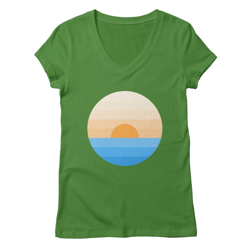 Sun goes down Women's V-Neck by Moremo's Artist Shop