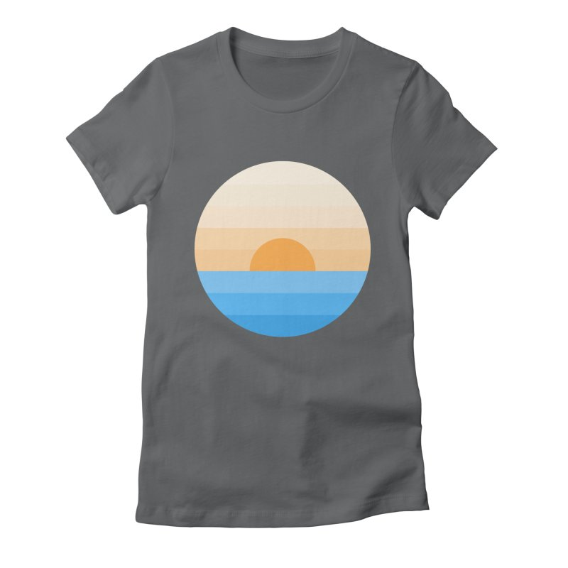 Sun goes down Women's Fitted T-Shirt by Moremo's Artist Shop