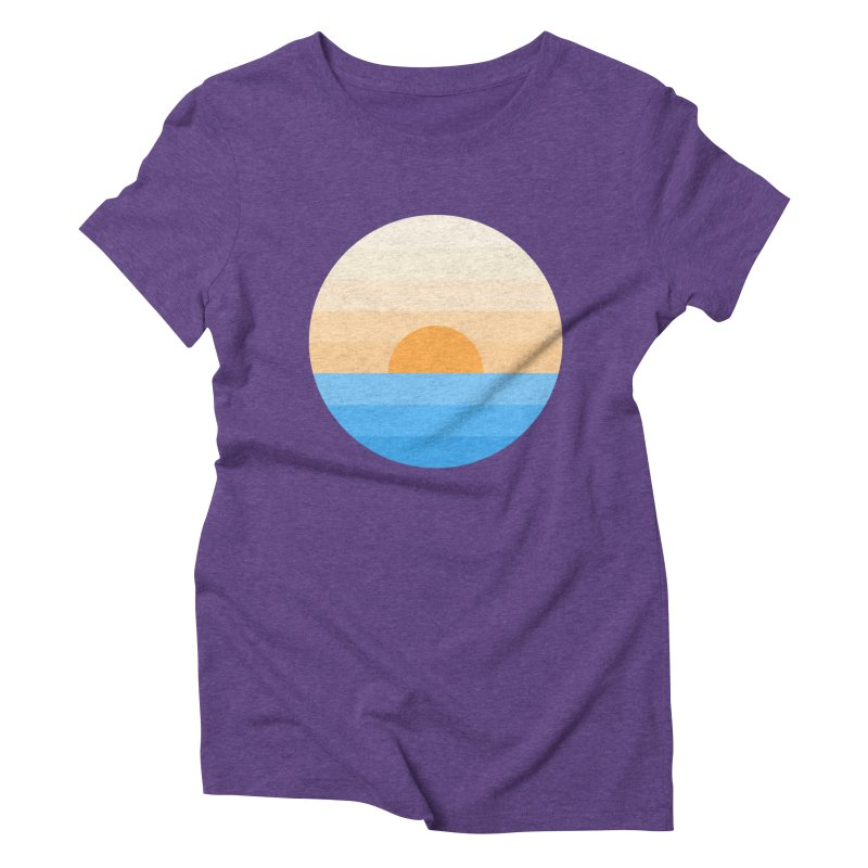 Sun goes down Women's Triblend T-Shirt by Moremo's Artist Shop