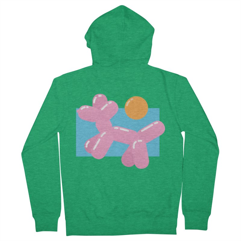 Dog meets Summer Women's French Terry Zip-Up Hoody by Moremo's Artist Shop