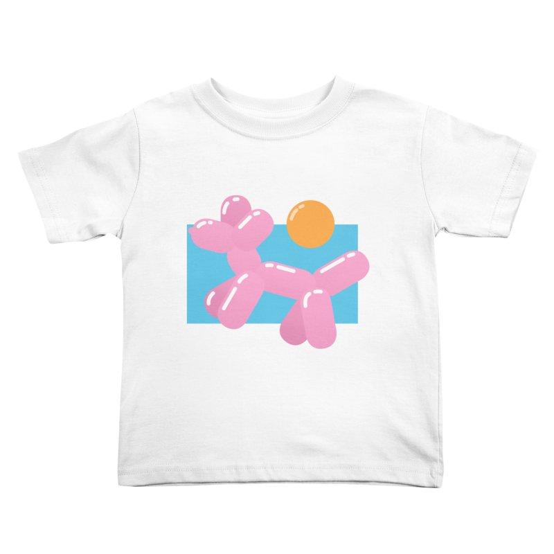 Dog meets Summer Kids Toddler T-Shirt by Moremo's Artist Shop