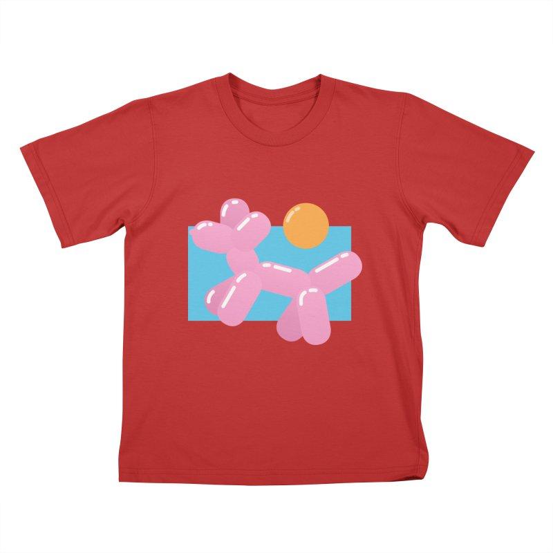 Dog meets Summer Kids T-Shirt by Moremo's Artist Shop