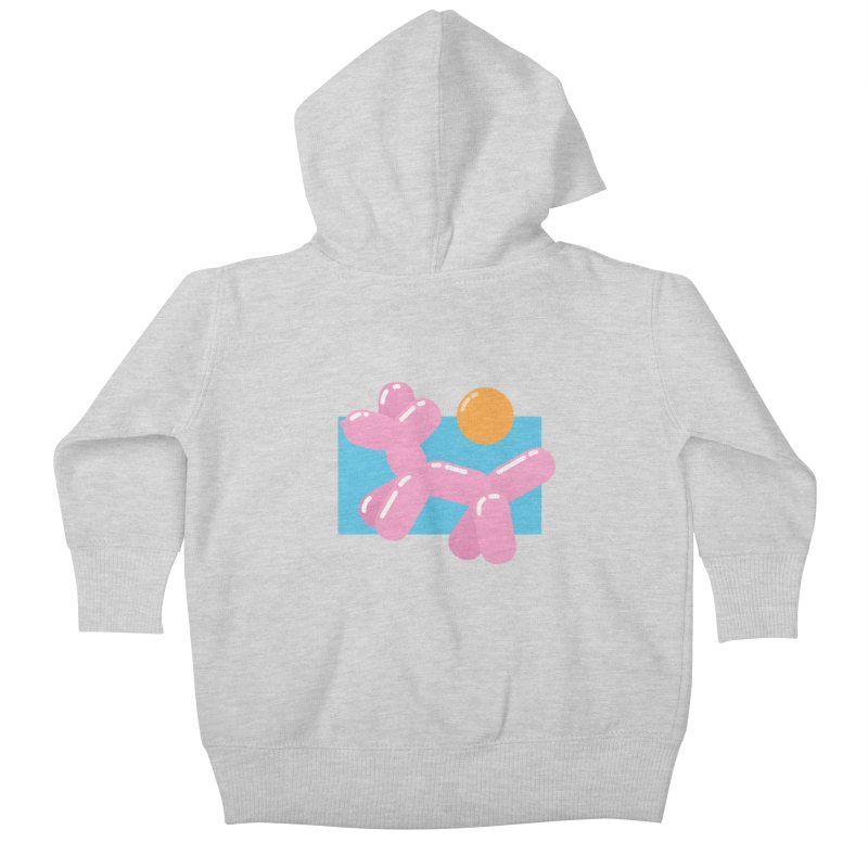 Dog meets Summer Kids Baby Zip-Up Hoody by Moremo's Artist Shop