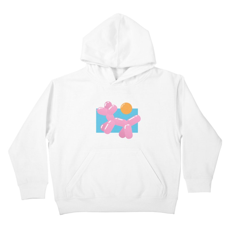 Dog meets Summer Kids Pullover Hoody by Moremo's Artist Shop
