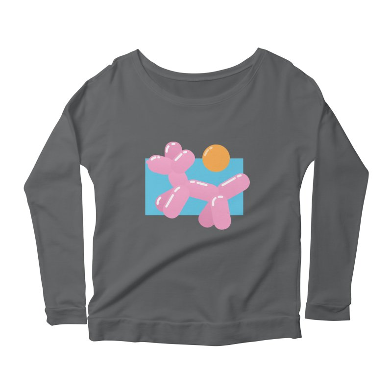 Dog meets Summer Women's Longsleeve Scoopneck  by Moremo's Artist Shop