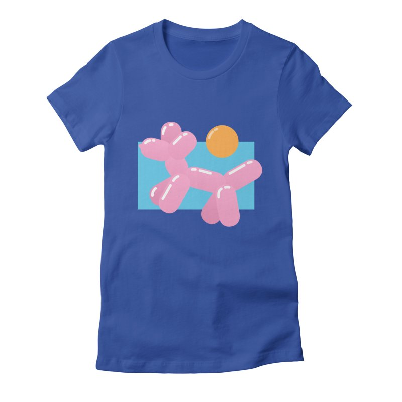 Dog meets Summer Women's Fitted T-Shirt by Moremo's Artist Shop