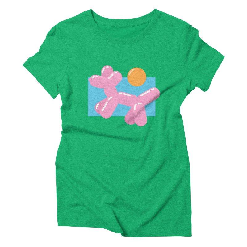 Dog meets Summer Women's Triblend T-Shirt by Moremo's Artist Shop