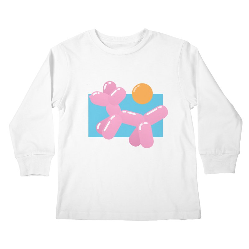 Dog meets Summer Kids Longsleeve T-Shirt by Moremo's Artist Shop