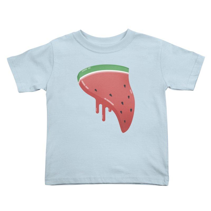 Summer Pizza Kids Toddler T-Shirt by Moremo's Artist Shop