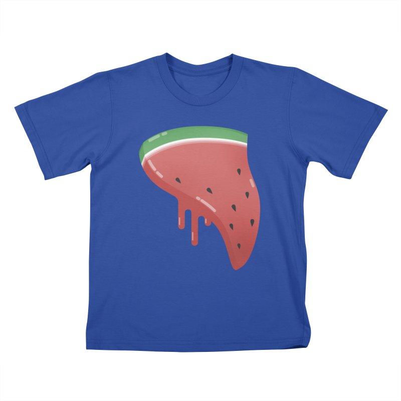 Summer Pizza Kids T-Shirt by Moremo's Artist Shop