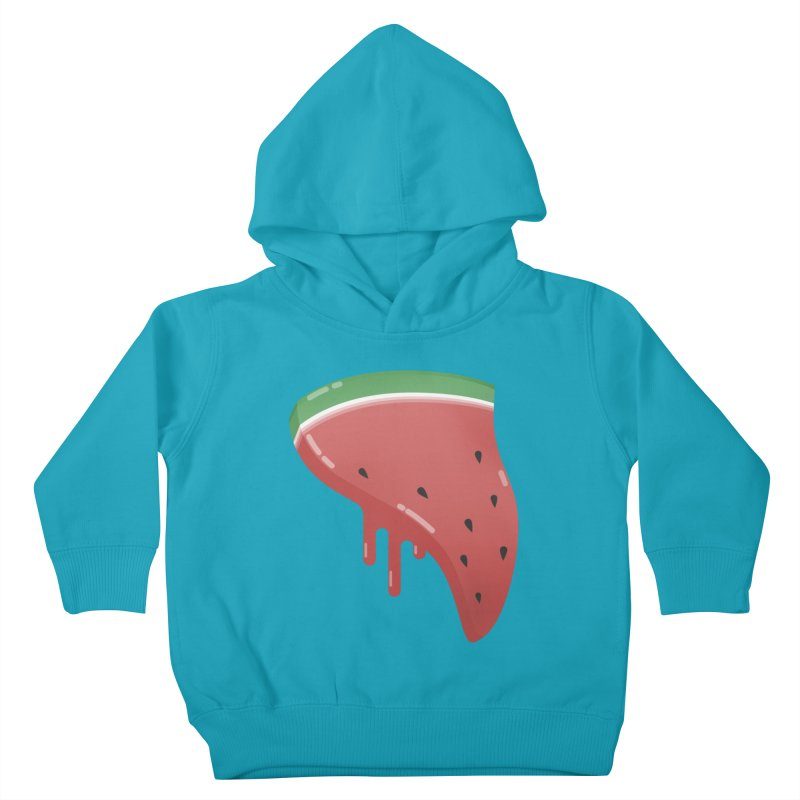 Summer Pizza Kids Toddler Pullover Hoody by Moremo's Artist Shop