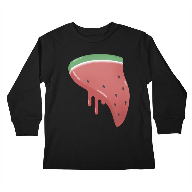 Summer Pizza Kids Longsleeve T-Shirt by Moremo's Artist Shop