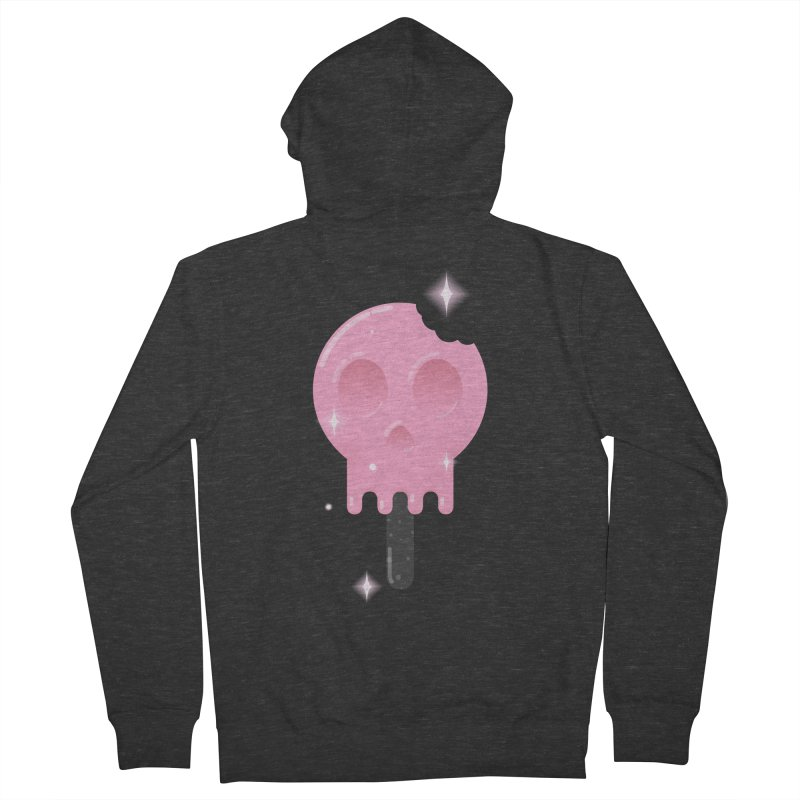 Funny Death Men's French Terry Zip-Up Hoody by Moremo's Artist Shop