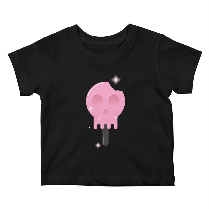 Funny Death Kids Baby T-Shirt by Moremo's Artist Shop