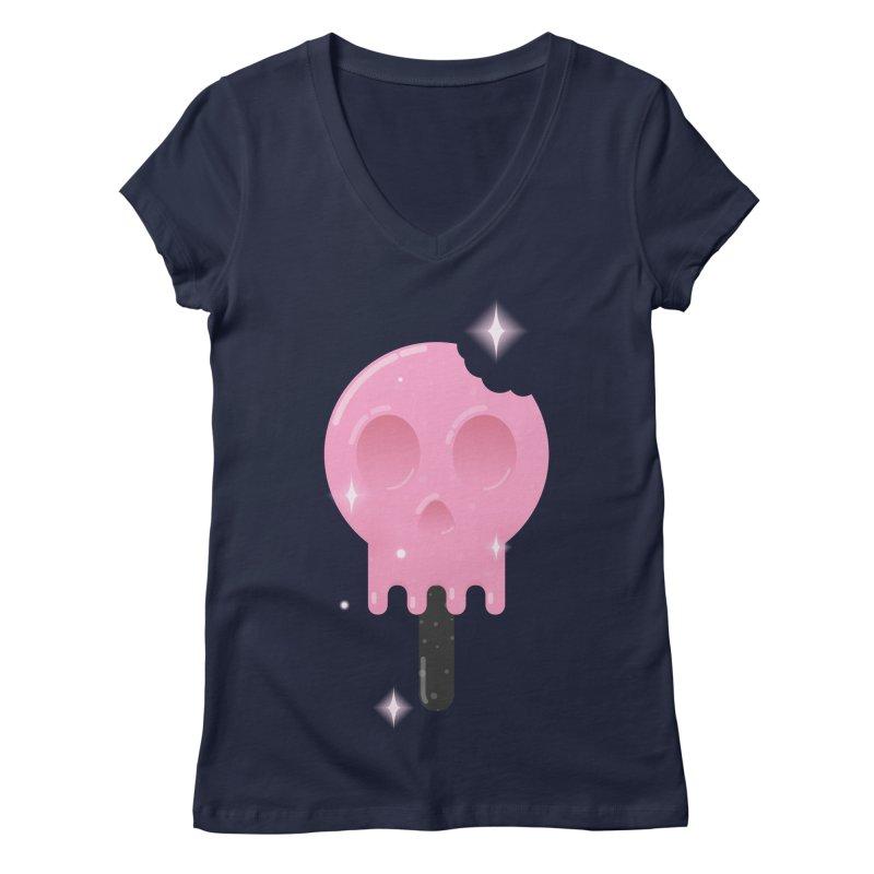 Funny Death Women's Regular V-Neck by Moremo's Artist Shop
