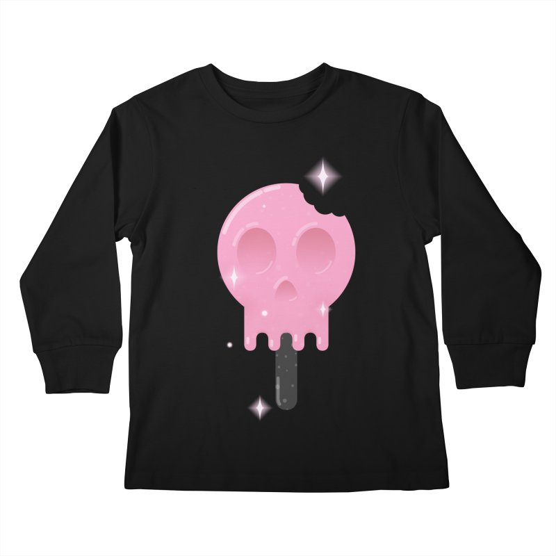 Funny Death Kids Longsleeve T-Shirt by Moremo's Artist Shop