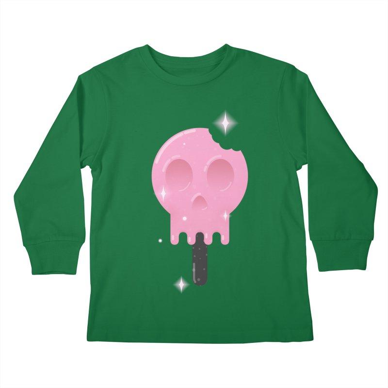 Funny Death Kids Longsleeve T-Shirt by Moremo's Artist Shop