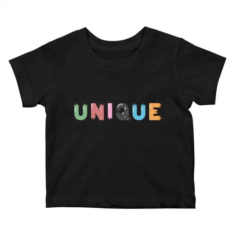 Unique Kids Baby T-Shirt by Moremo's Artist Shop