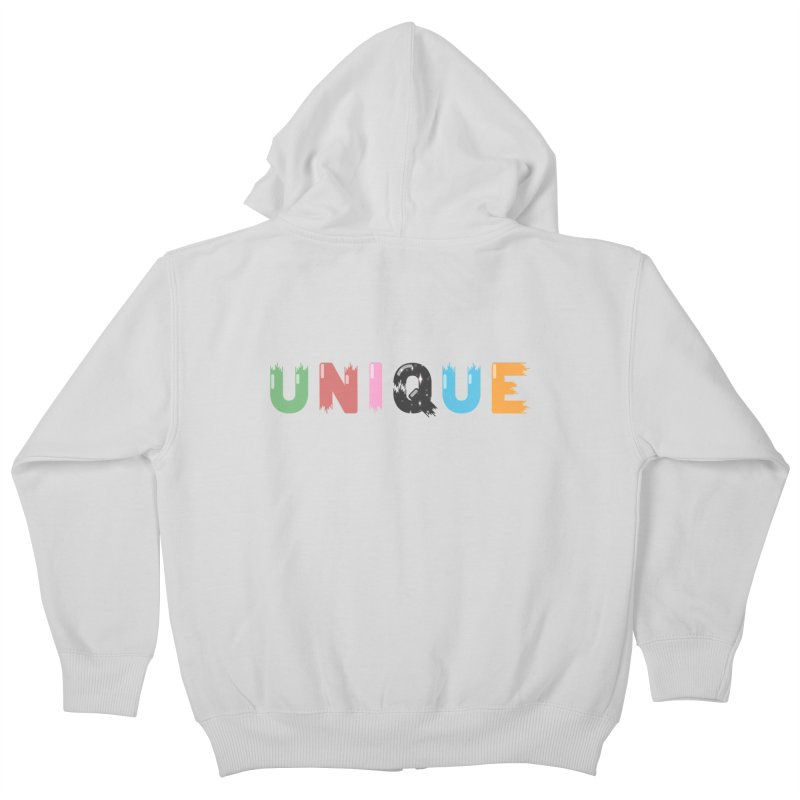 Unique Kids Zip-Up Hoody by Moremo's Artist Shop