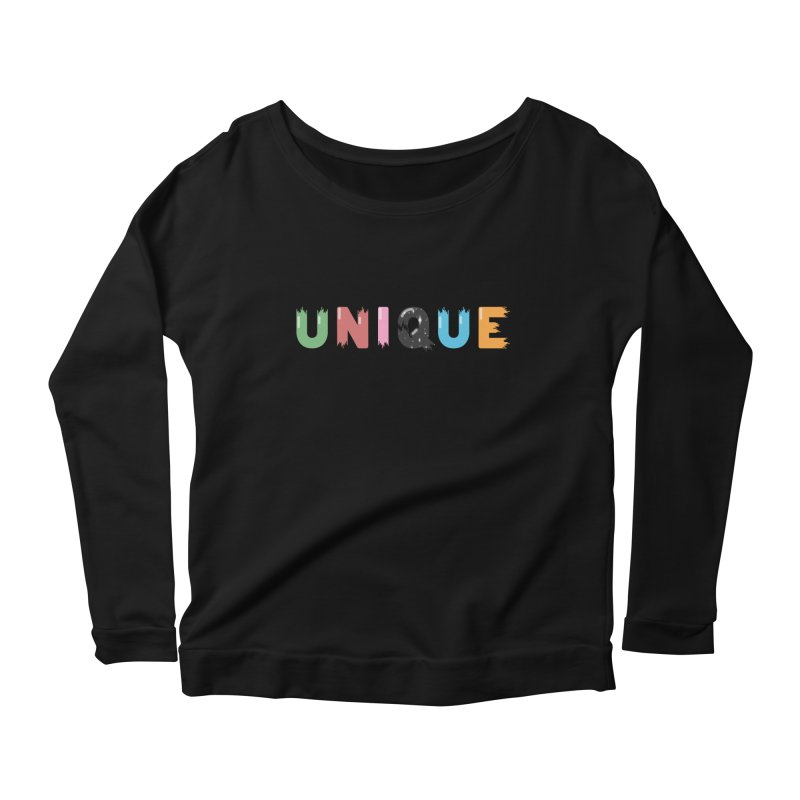 Unique Women's Longsleeve Scoopneck  by Moremo's Artist Shop