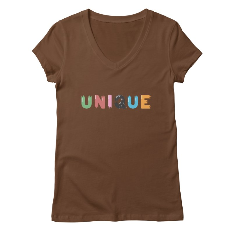 Unique Women's V-Neck by Moremo's Artist Shop
