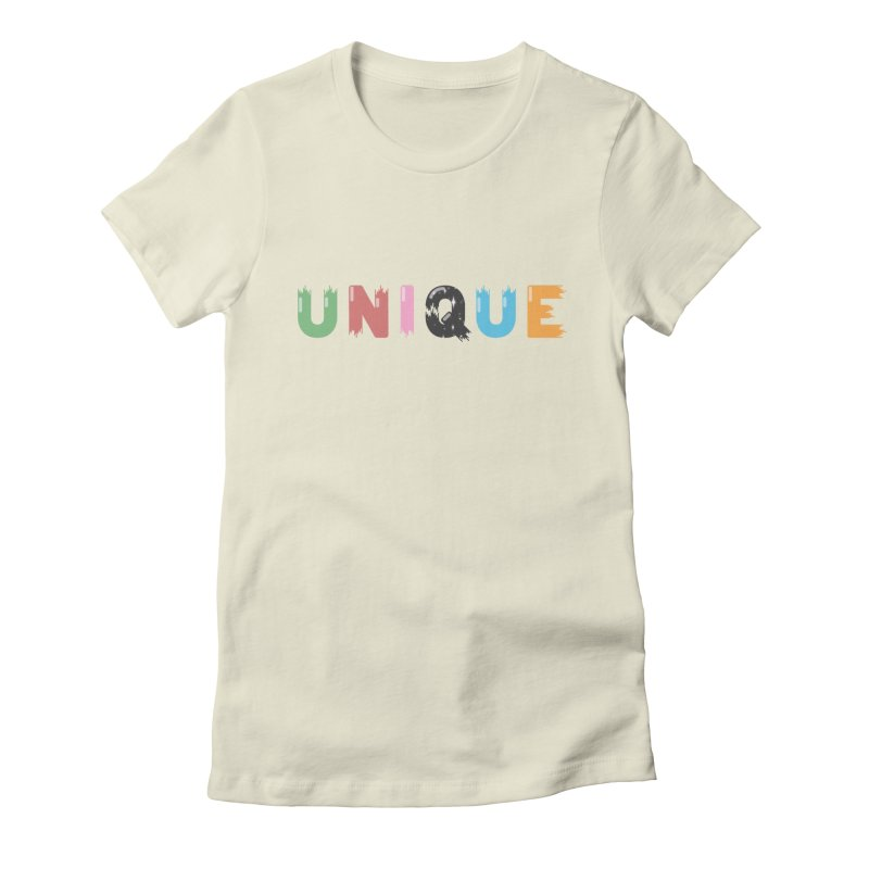 Unique in Women's Fitted T-Shirt Natural by Moremo's Artist Shop