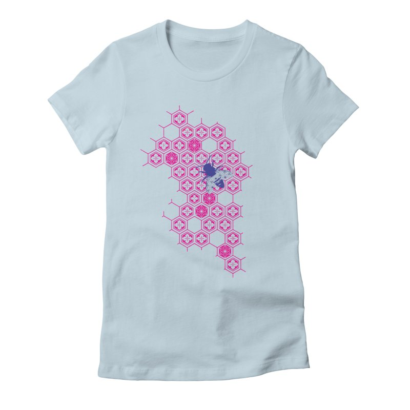 Japanese honeybeez Women's Fitted T-Shirt by morethanordinary's Artist Shop