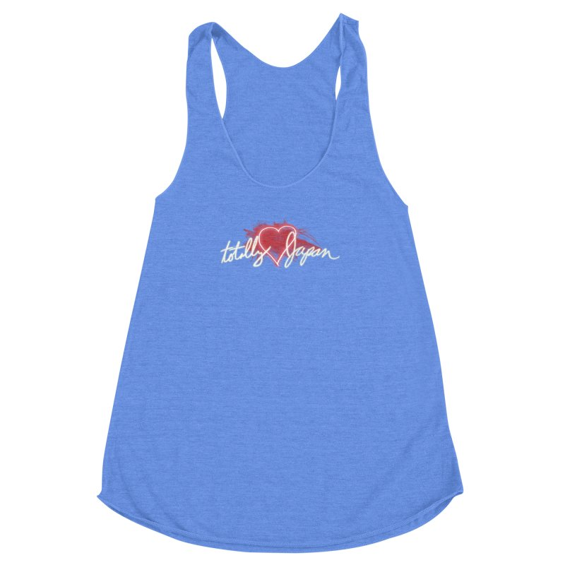 TotallyHeartJapan Women's Racerback Triblend Tank by morethanordinary's Artist Shop