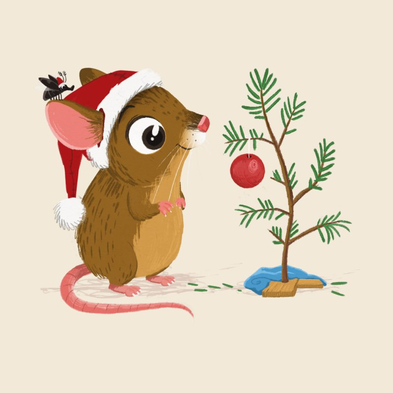 Matchstick Mouse  - Christmas Tree by morganobrienart's Artist Shop