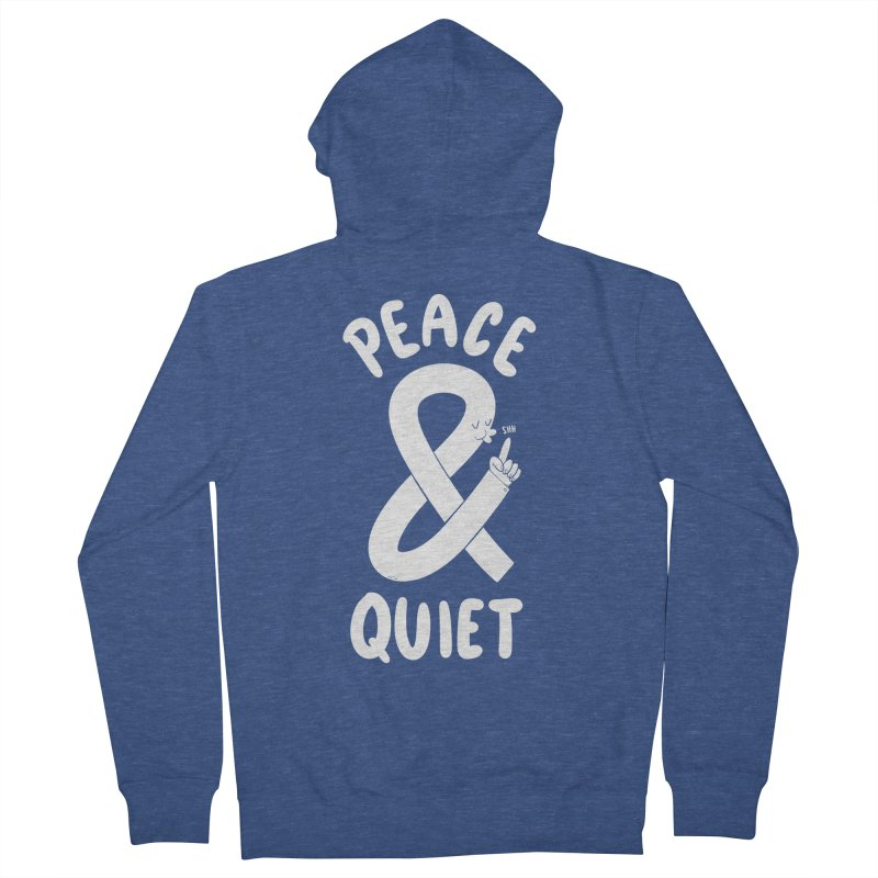 Peace & Quiet Women's French Terry Zip-Up Hoody by Morkki