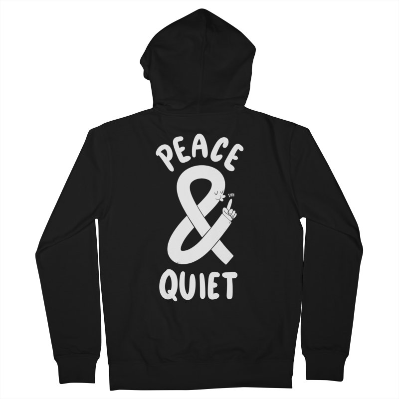 Peace & Quiet Men's Zip-Up Hoody by Morkki