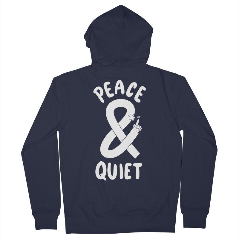 Peace & Quiet Men's Zip-Up Hoody by Morkki