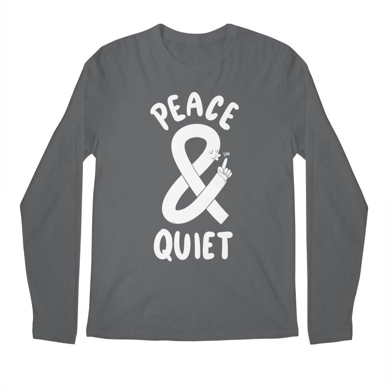 Peace & Quiet Men's Longsleeve T-Shirt by Morkki