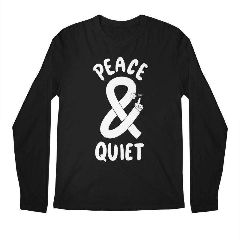 Peace & Quiet Men's Regular Longsleeve T-Shirt by Morkki