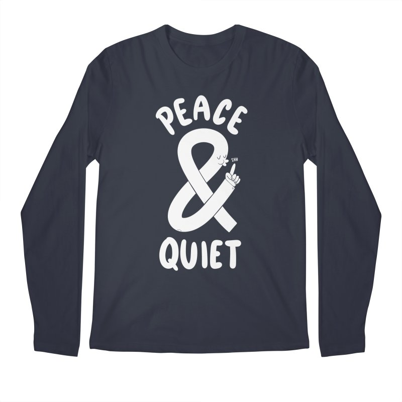 Peace & Quiet Men's Longsleeve T-Shirt by Morkki