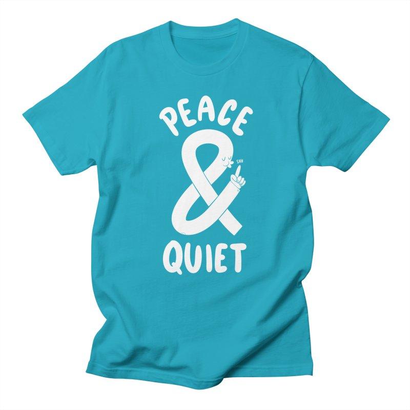 Peace & Quiet Men's Regular T-Shirt by Morkki