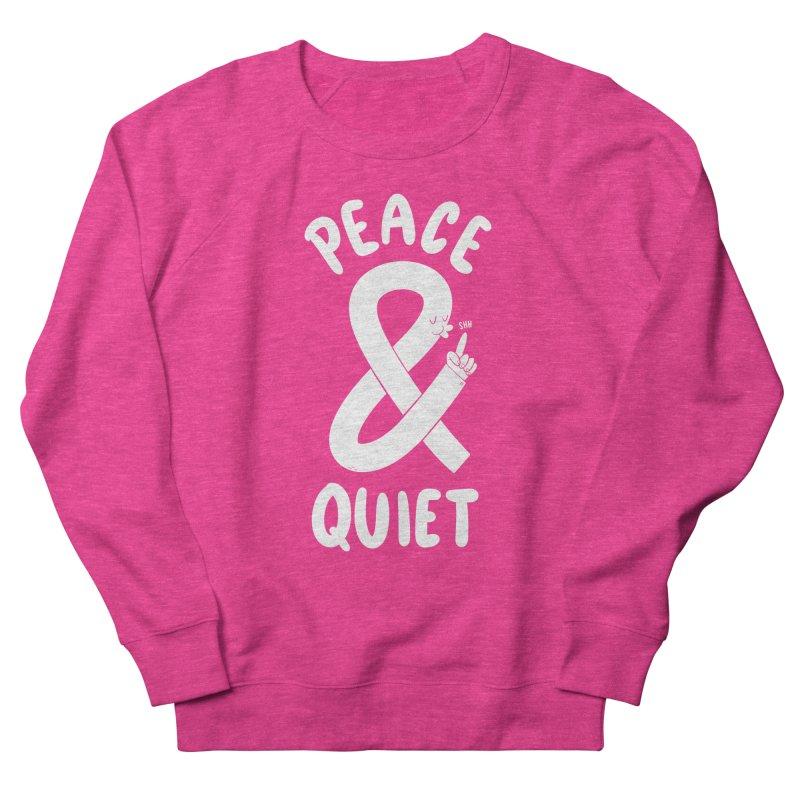 Peace & Quiet Women's French Terry Sweatshirt by Morkki